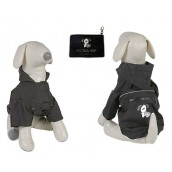 (YAP Dog) Pac-a-Yap Dog Coat Charcoal 18inch