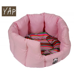(YAP Dog) Oval Cat Bed 18inch Pink