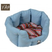 (YAP Dog) Oval Cat Bed 18inch Blue