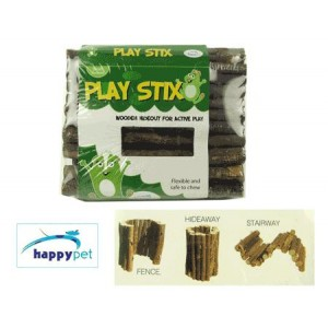 (happypet) Small Animal Cage Accessories PlayStix Wooden Hideout Large