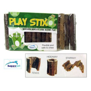 (happypet) Small Animal Cage Accessorie Play Stix Wooden Hideout Small