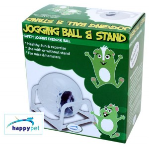 (happypet) Small Animal Jogging Ball and Stand