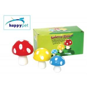 (happypet) Small Animal 3D Mushroom Nibblers