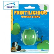 (happypet) Fruitilicious Wooden Chew Apple