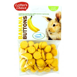 (Critters Choice) Small Animal Banana Buttons 40g