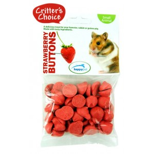 (Critters Choice) Small Animal Strawberry Buttons 40g