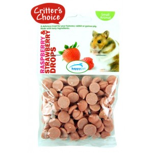 (Critters Choice) Small Animal Raspberry and Strawberry Drops 75g