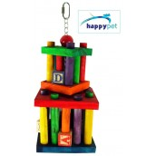 happypet Building Block Maze Large Bird Healthy Toy and Treat Holder