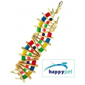 happypet Rainbow Wave Perch and Play Large Bird Toy